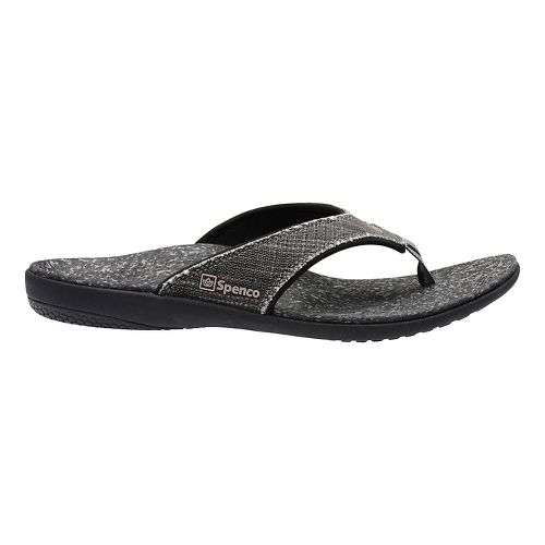 Mens Spenco Yumi Canvas Sandals Shoe - Black 14