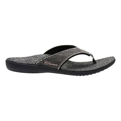 Mens Spenco Yumi Canvas Sandals Shoe - Black 7