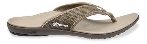 Mens Spenco Yumi Canvas Sandals Shoe - Light Grey 14