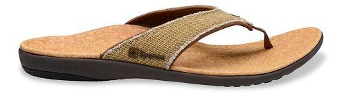 Mens Spenco Yumi Canvas Sandals Shoe - Beige/Cork 7