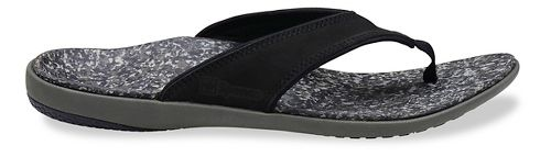 Mens Spenco Yumi Leather Sandals Shoe - Black 10