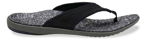 Mens Spenco Yumi Leather Sandals Shoe - Black 8