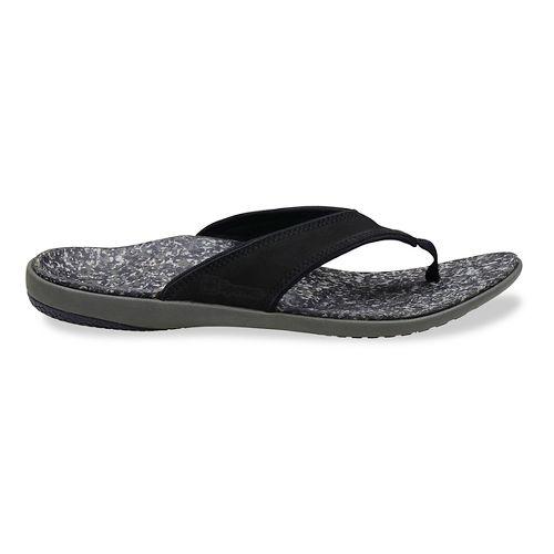 Mens Spenco Yumi Leather Sandals Shoe - Black 9