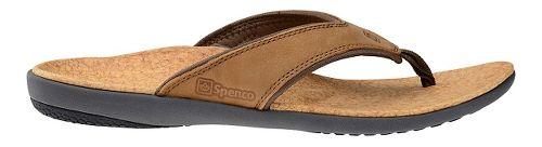 Mens Spenco Yumi Leather Sandals Shoe - Medium Brown 10