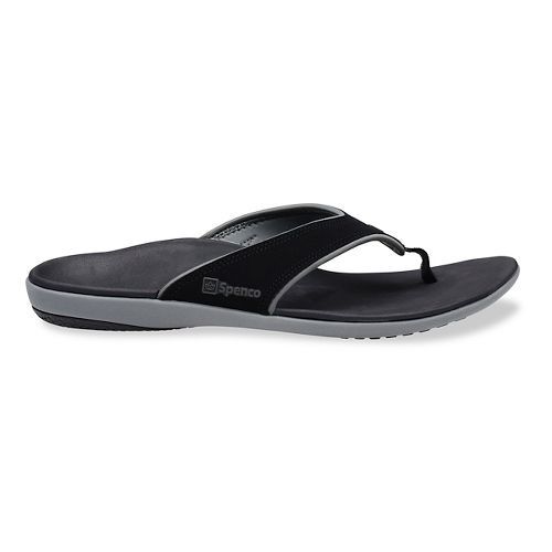 Mens Spenco Yumi Sandals Shoe - Black/Grey 10
