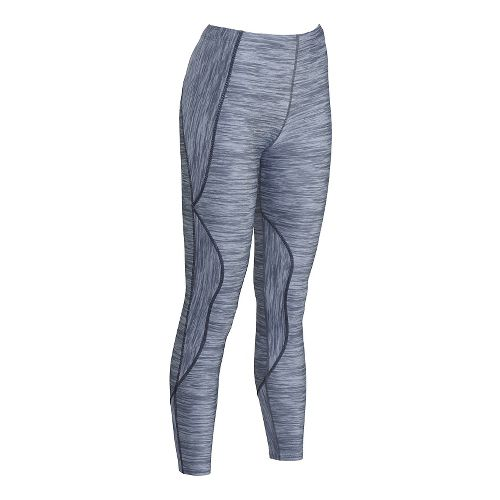 Womens CW-X TraXter Tights Print Tights & Leggings Pants - Heather Grey Print L