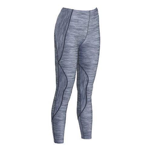 Womens CW-X TraXter Tights Print Tights & Leggings Pants - Heather Grey Print M