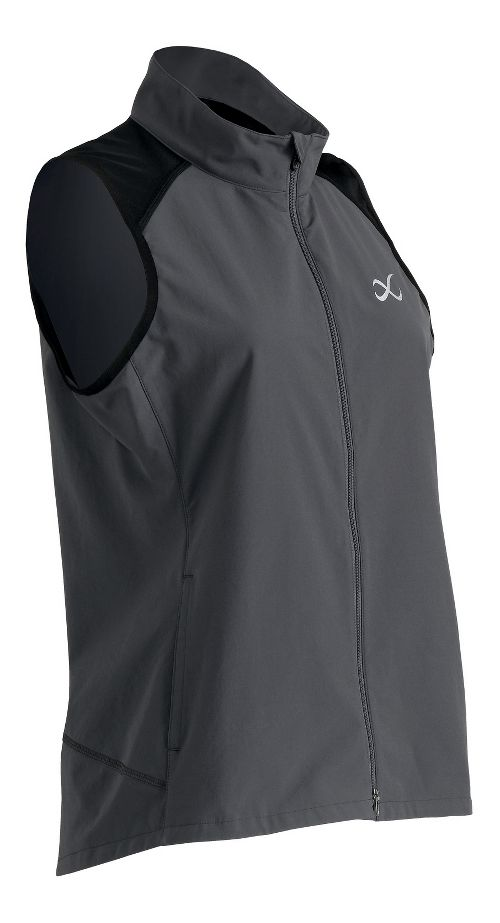 Womens CW-X Endurance Run Vests Jackets - Charcoal Grey M