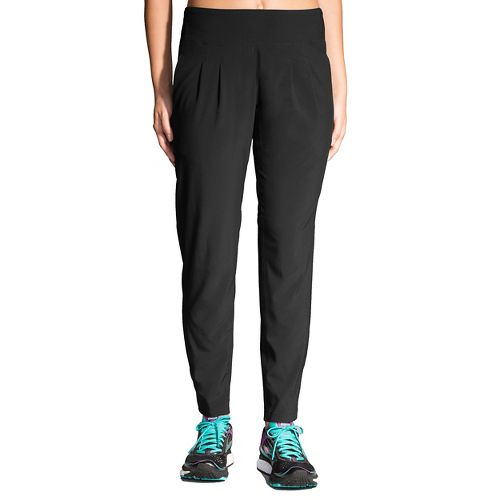 Womens Brooks Chaser Pants - Black XS