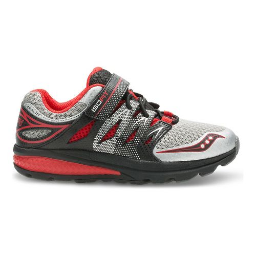 Kids Saucony Zealot 2 A/C Preschool Running Shoe - Grey/Red 11C