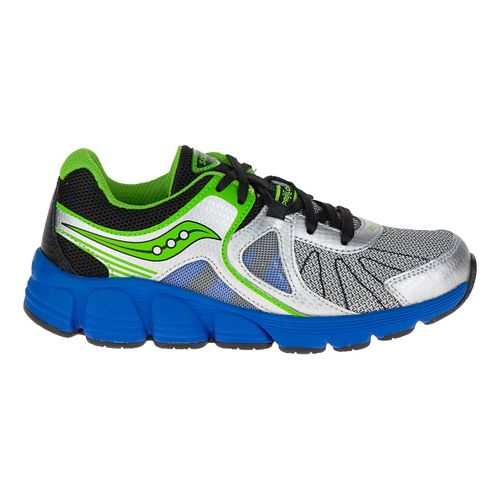 Kids Saucony Kotaro 3 Preschool Running Shoe - Silver/Blue 12C
