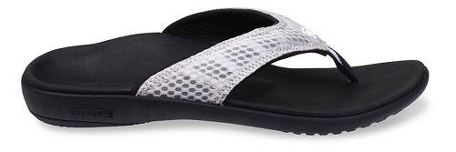 Womens Spenco Breeze Sandals Shoe - Silver/Black 10