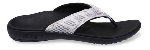 Womens Spenco Breeze Sandals Shoe - Silver/Black 6