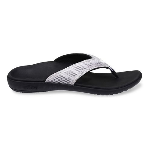 Womens Spenco Breeze Sandals Shoe - Silver/Black 7