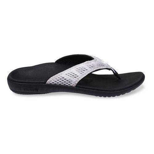 Womens Spenco Breeze Sandals Shoe - Silver/Black 8