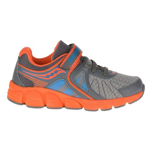 Kid Saucony Kotaro 3 A/C Gradeschool Running Shoe - Grey/Blue 3.5Y