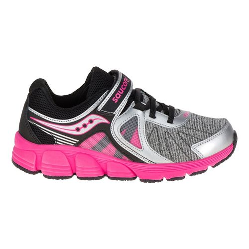 Kid Saucony Kotaro 3 A/C Gradeschool Running Shoe - Silver/Pink 6Y