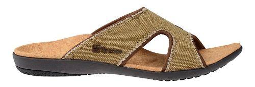 Womens Spenco Kholo Canvas Slide Sandals Shoe - Beige/Cork 11