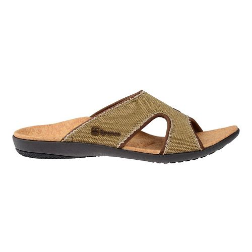 Womens Spenco Kholo Canvas Slide Sandals Shoe - Beige/Cork 6