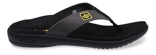 Womens Spenco Pure Sandals Shoe - Black 10