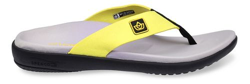 Womens Spenco Pure Sandals Shoe - Tennis Yellow 5