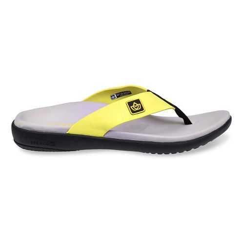 Womens Spenco Pure Sandals Shoe - Tennis Yellow 5