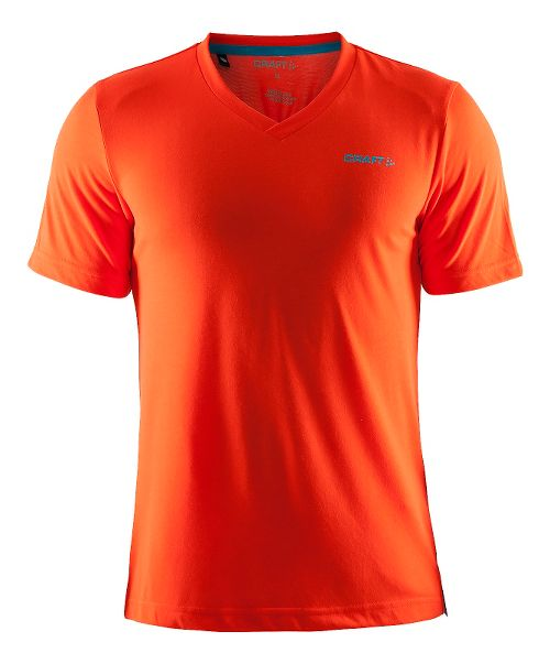 Mens Craft Basic Tee Short Sleeve Technical Tops - Heat/Gale L
