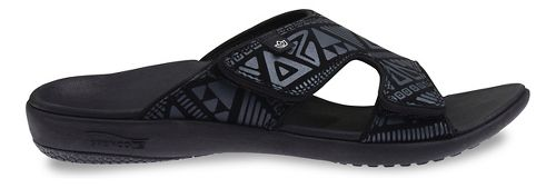 Womens Spenco Tribal Slide Sandals Shoe - Black 8
