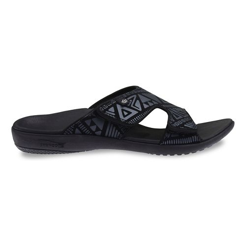 Womens Spenco Tribal Slide Sandals Shoe - Black 10