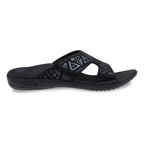 Womens Spenco Tribal Slide Sandals Shoe - Black 5