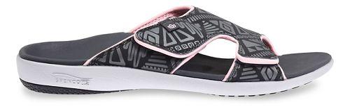 Womens Spenco Tribal Slide Sandals Shoe - Dark Grey 7