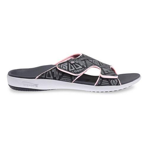 Womens Spenco Tribal Slide Sandals Shoe - Dark Grey 6
