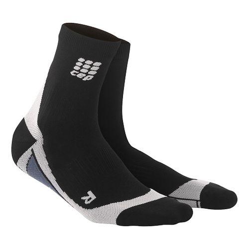 Mens CEP Dynamic+ Compression Short Socks 2.0 Injury Recovery - Black/Grey L