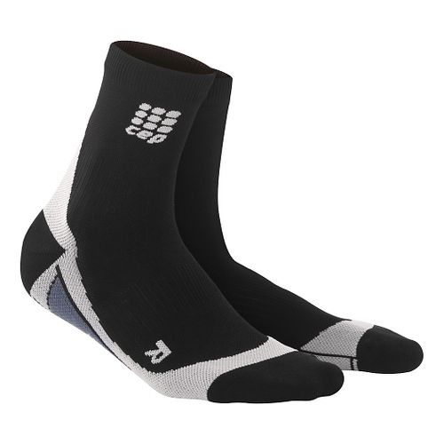 Mens CEP Dynamic+ Compression Short Socks 2.0 Injury Recovery - Black/Grey M