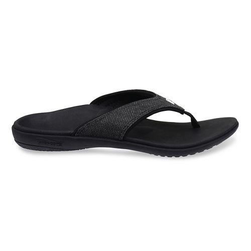 Womens Spenco Yumi Canvas Sandals Shoe - Black 10