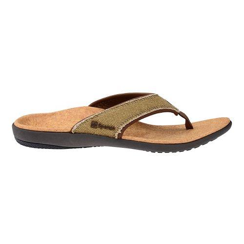 Womens Spenco Yumi Canvas Sandals Shoe - Beige/Cork 5