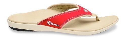 Womens Spenco Yumi Sandals Shoe - Red 5