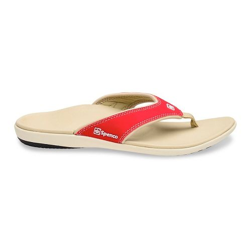 Womens Spenco Yumi Sandals Shoe - Red 5