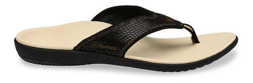 Womens Spenco Yumi Snake Sandals Shoe - Black 11