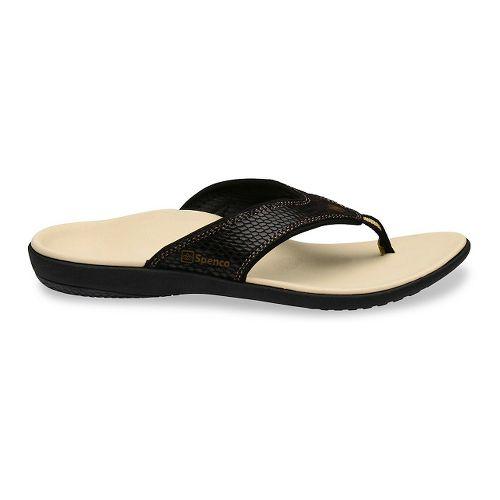Womens Spenco Yumi Snake Sandals Shoe - Black 10