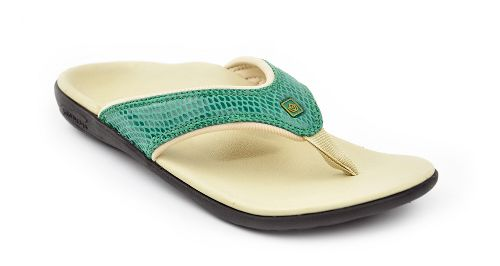 Womens Spenco Yumi Snake Sandals Shoe - Green 7