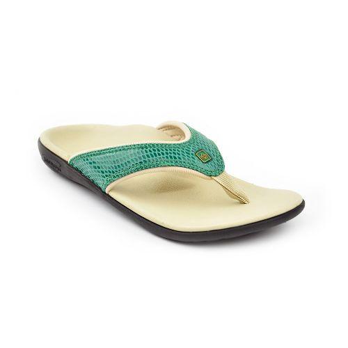 Womens Spenco Yumi Snake Sandals Shoe - Green 6