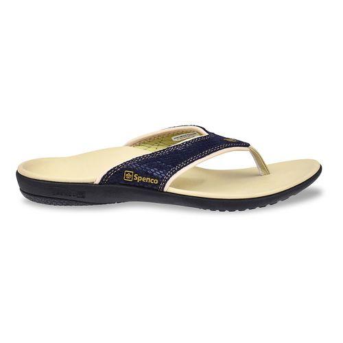 Womens Spenco Yumi Snake Sandals Shoe - Navy 7