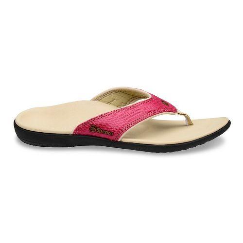 Womens Spenco Yumi Snake Sandals Shoe - Rose 8