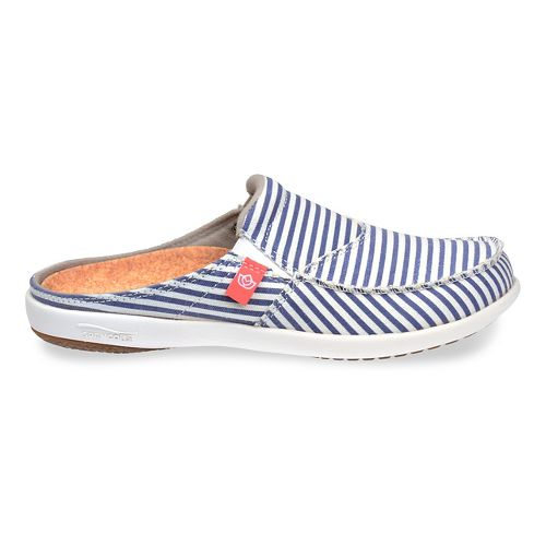 Womens Spenco Montauk Slide Casual Shoe - Navy Stripe 10