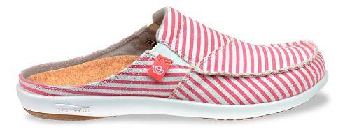 Womens Spenco Montauk Slide Casual Shoe - Red Stripe 6