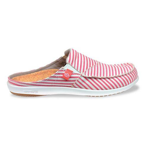 Womens Spenco Montauk Slide Casual Shoe - Red Stripe 11