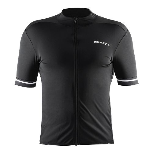 Mens Craft Classic Jersey Short Sleeve Technical Tops - Black/White XL