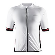 Mens Craft Classic Jersey Short Sleeve Technical Tops - White/Black/Red L