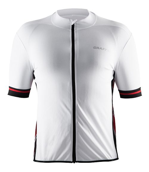 Mens Craft Classic Jersey Short Sleeve Technical Tops - White/Black/Red XXL